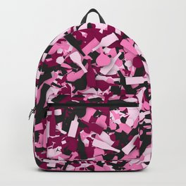 Pink alcohol camouflage Backpack
