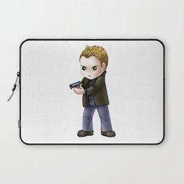 Chibi Dean Winchester (White BG) Laptop Sleeve