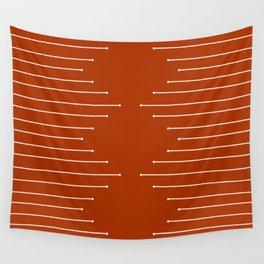 Terracotta geometric pattern Wall Tapestry