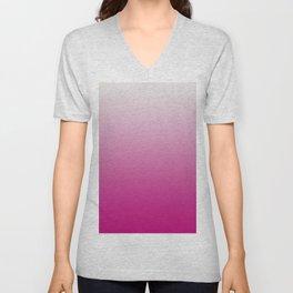 Pink Ombre Unisex V-Neck