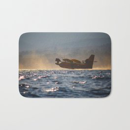 fire-fighting plane canadair Bath Mat