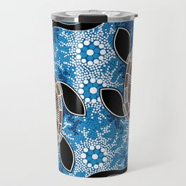 Aboriginal Art - Sea Turtles Travel Mug