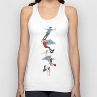 neverland Tank Tops featuring Off To Neverland by Ashley R. Guillory