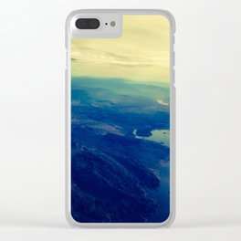 Land mass. Fly over states. Clear iPhone Case