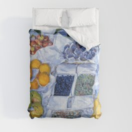 Gustave Caillebotte - Fruit Displayed On A Stand - Digital Remastered Edition Comforters