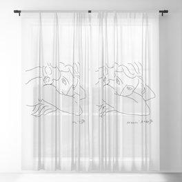 Young Woman With Face Buried In Arms (jeune Femme Le Visage Enfoui Dans Les Bras), Henri Matisse, Ar Sheer Curtain
