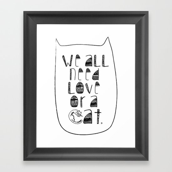 Le Chat. Framed Art Print