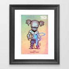 Roswell gang - Inky - Villains of G universe Framed Art Print