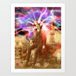 Electric Scientist Art Print