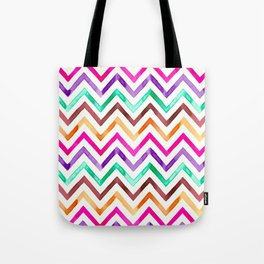Chevron Multicolor Watercolor Tote Bag