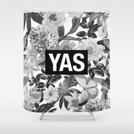 YAS B&W Shower Curtain
