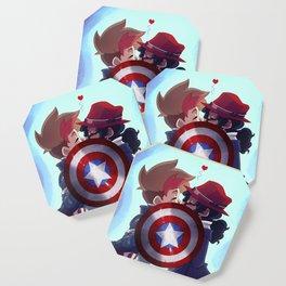 Captain & Carter Cosplay Coaster