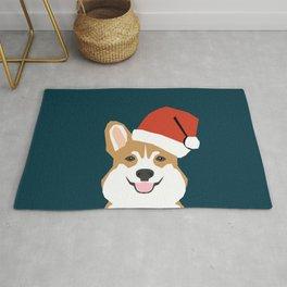 Corgi Christmas  santa claus costume for cute welsh corgi pet dog lover gift for the corgi person Rug