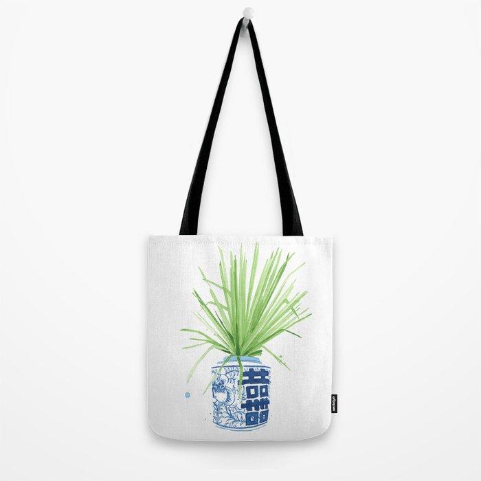 Ginger Jar + Fan Palm Tote Bag