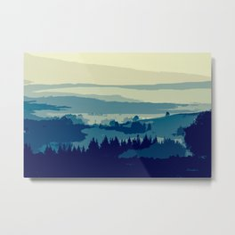 Serene and Beautiful Landscape Metal Print