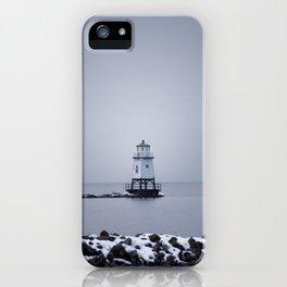 Burlington Breakwater North Lighthouse iPhone Case