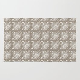 Modern Geometric Pattern 6 in Taupe Rug