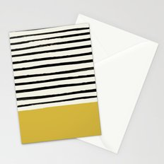 Mustard Yellow & Stripes Stationery Cards