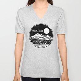 Mount Shasta Black and White Unisex V-Neck