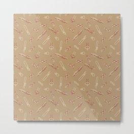 Knot Pattern Metal Print