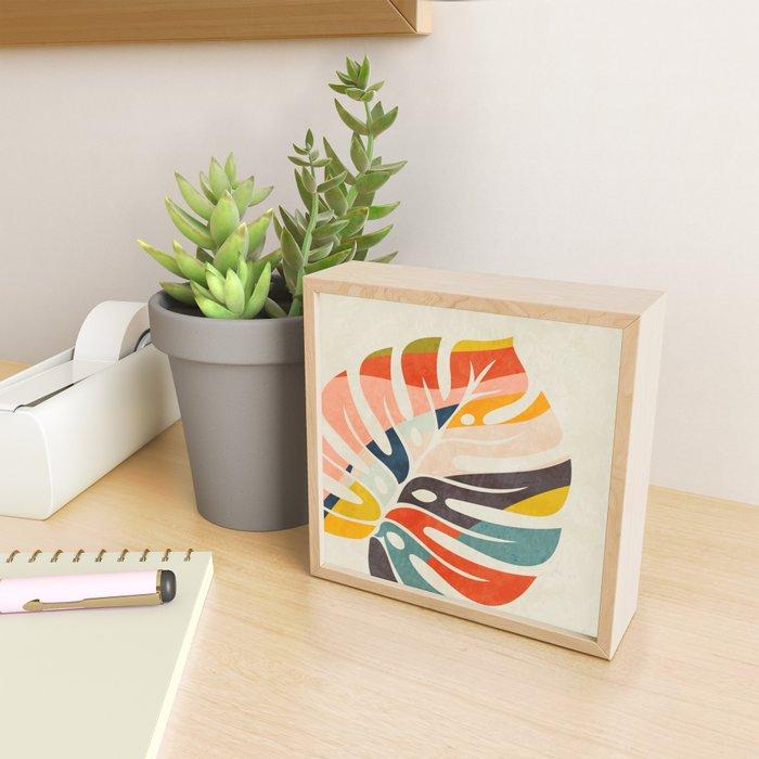 shape leave modern mid century Framed Mini Art Print