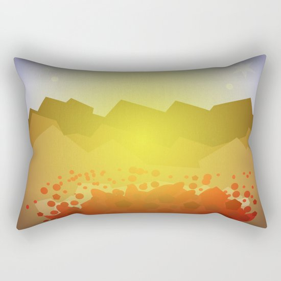 Icelandic volcano Rectangular Pillow