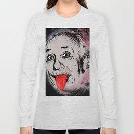 Albert Einstein Funny Tongue Long Sleeve T-shirt