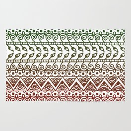 Holiday Henna Pattern Rug