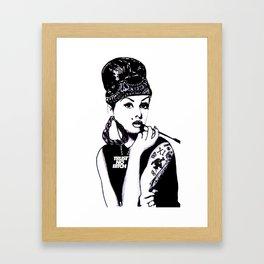 Audrey Hepburn. Rebel: Chola. Framed Art Print