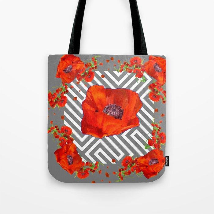 fe48a6084bd ORANGE POPPIES MODERN ART Tote Bag by sharlesart | Society6