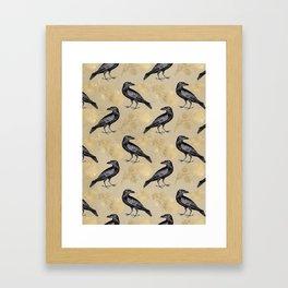Vintage Crow Framed Art Print