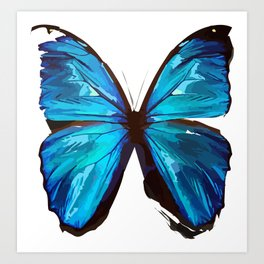 Beautiful Blue Butterfly Proceeds donated to DebRa.org Art Print