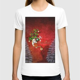 Christmas, Santa Claus with christmas tree T-shirt