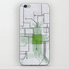 Circuit board green iPhone & iPod Skin