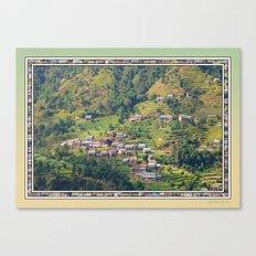 TERRACED HIMALAYAN FOOTHILLS VILLAGE IN NEPAL Canvas Print