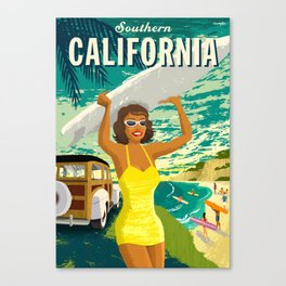 Southern California Travel Poster Canvas Print