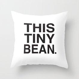 This Tiny Bean Logo Throw Pillow