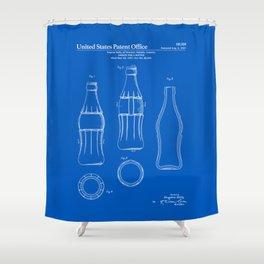Soda Bottle Patent - Blueprint Shower Curtain