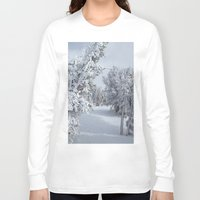 snow Long Sleeve T-shirts featuring Snow by Chris Root