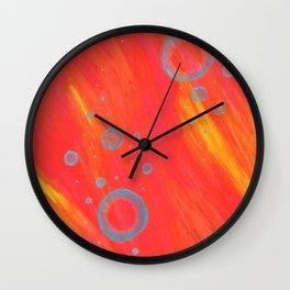 Hot Water Bubbles Wall Clock