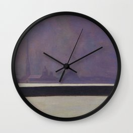 "Félix Vallotton ""La Néva, brume légère (The Neva, light haze)"" Wall Clock"