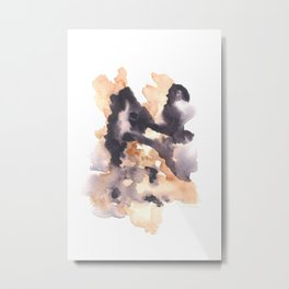 Soft Texture Watercolor | [Grief] Lies Metal Print