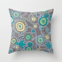 ladybug Throw Pillows featuring Ladybug by Robin Curtiss