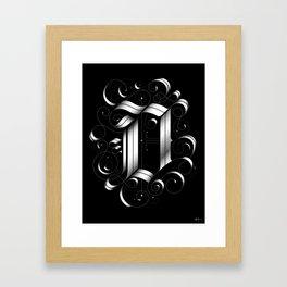 """Drop cap """"D"""" Framed Art Print"""