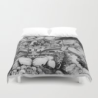 sin city Duvet Covers featuring Sin by Cifertherhyme