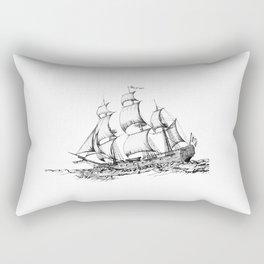 sailing ship . Home decor Graphicdesign Rectangular Pillow