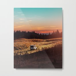 Land Discovery - Freedom Road Trip Metal Print