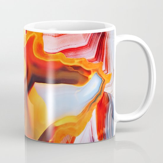 Earth's Fantasy, from the Lithosphere emerges Beauty - Agate Mug