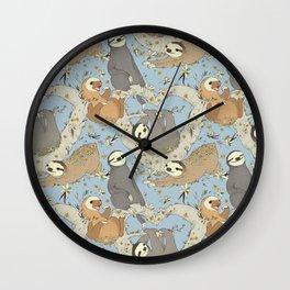 Sloths and Vanilla Wall Clock