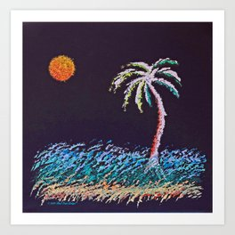 """Ghost Palms of Kauai #8"" Painting Art Print"